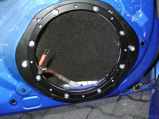 Adapter Und Stahlring Montiert