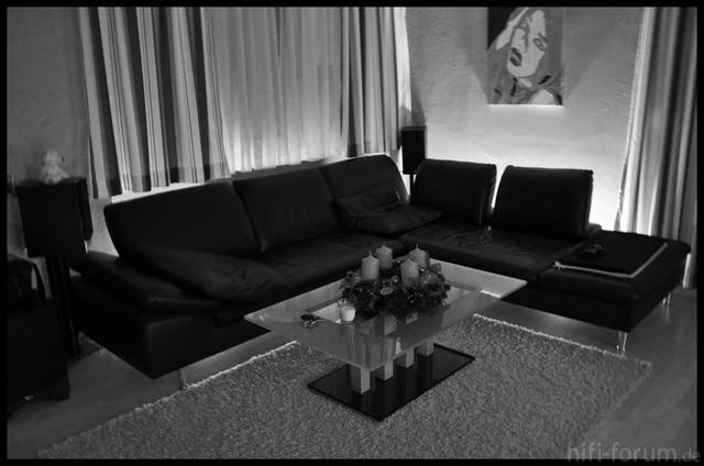 Couch In Schwarz/weiß