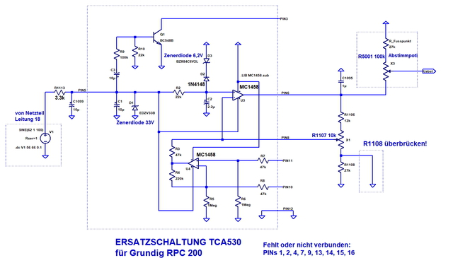 TCA530 Anpassung Für RPC 200