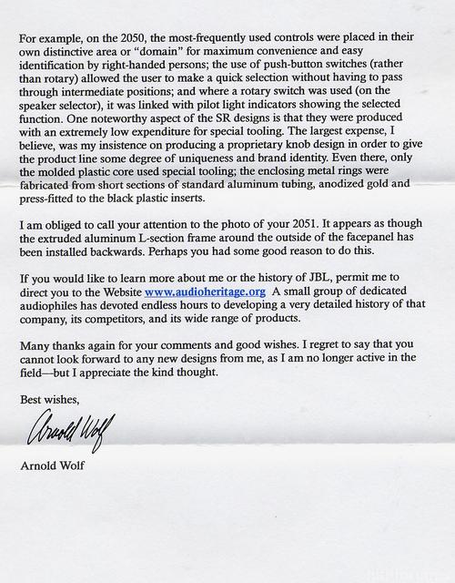 Antwort Arnold Wolf 2