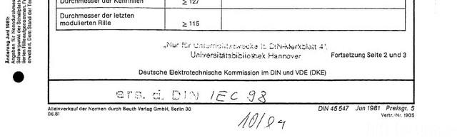 DIN45547 IEC 98