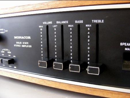 Monacor Nivico JVC Amp 1968 Regler 2