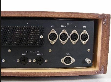 Monacor Nivico JVC Amp 1968 Von Hinten Terminals