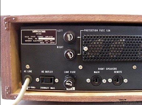 Monacor Nivico JVC Amp 1968 Von Hinten Transen