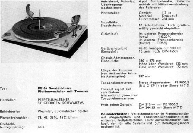 PE66 Sonderklasse Wechsler 1963