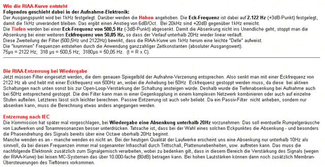 RIAA CCIR (IEC)