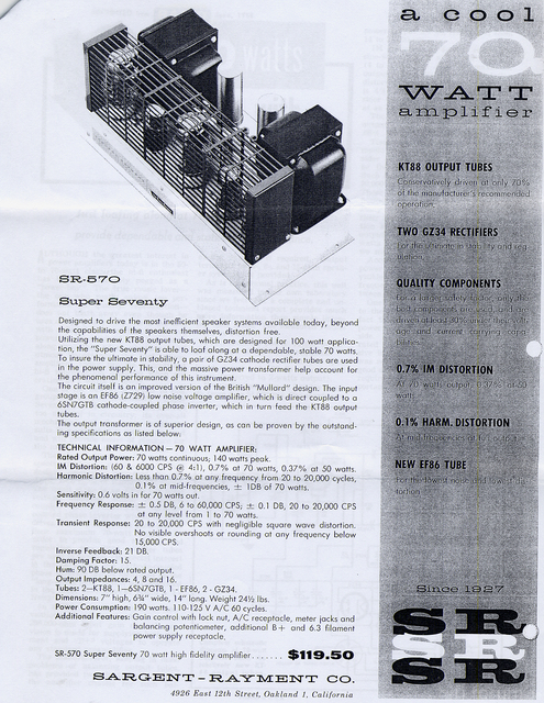 Sargent Rayment 70 Watt Monos Bochure 2