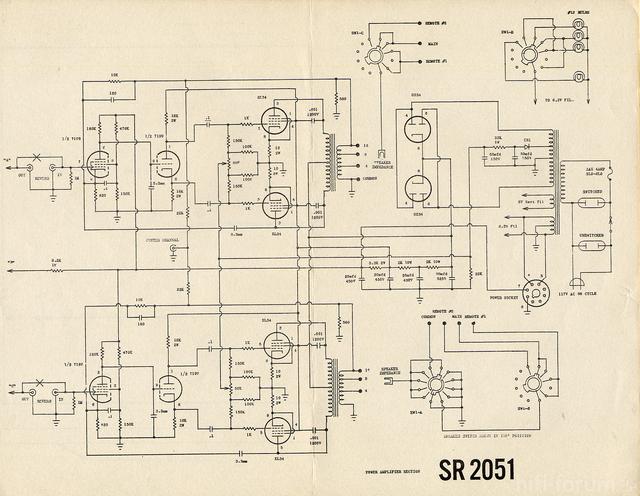 Sargent Rayment SR 2051 Endstufe Plan