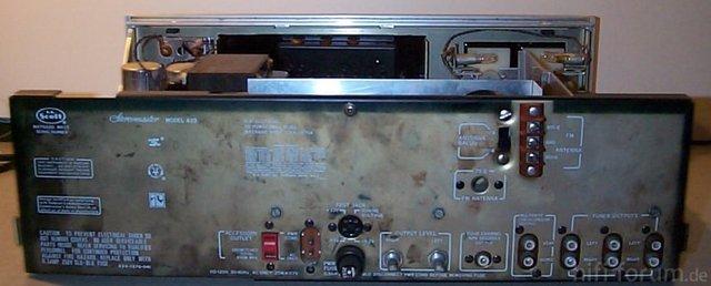 Scott 433 Tuner Hinten