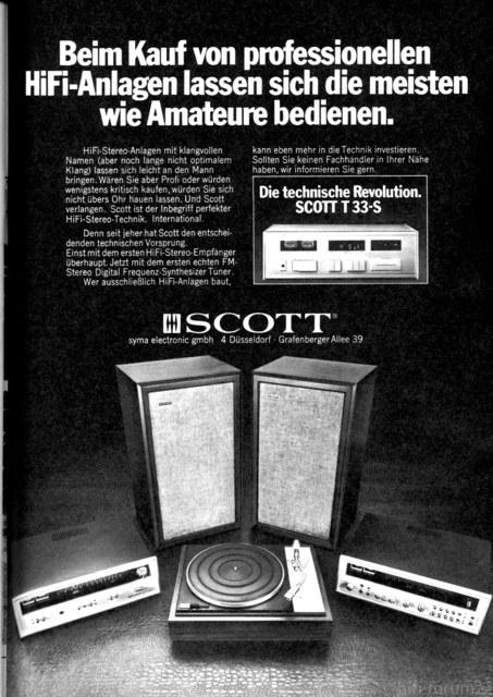 Scott Werbeanzeige 1973