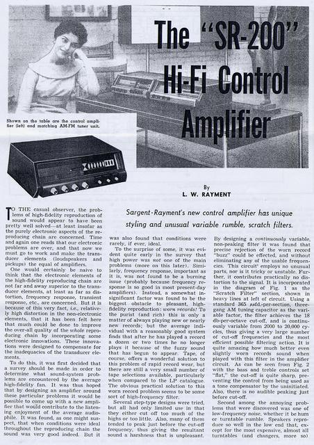 SR250 Control Amp