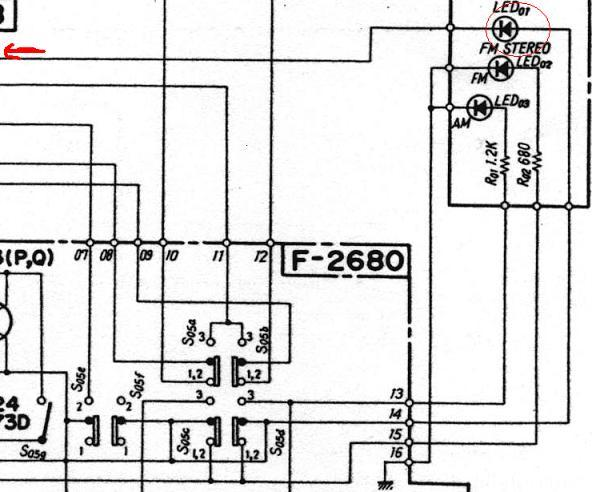 TU-717 Stereo LED Schematic