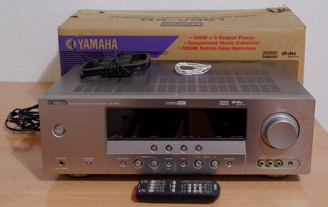 biete yamaha rx v 361 5 1 av receiver silber. Black Bedroom Furniture Sets. Home Design Ideas