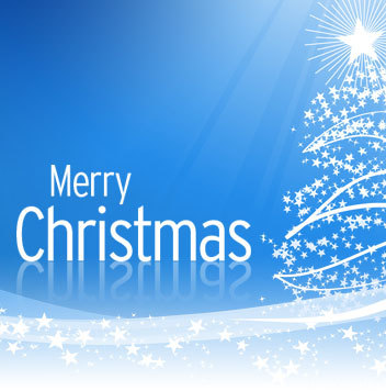 5b585d Merry Christmas Blue Style