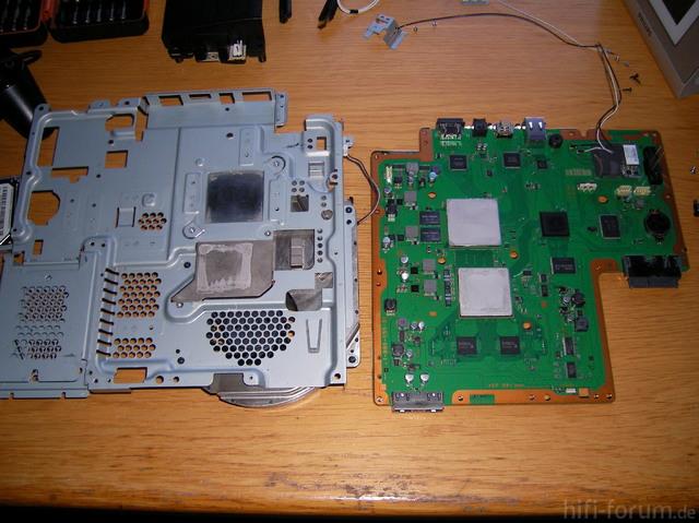 PS3 Mainboard Mit Kühlaufsatz