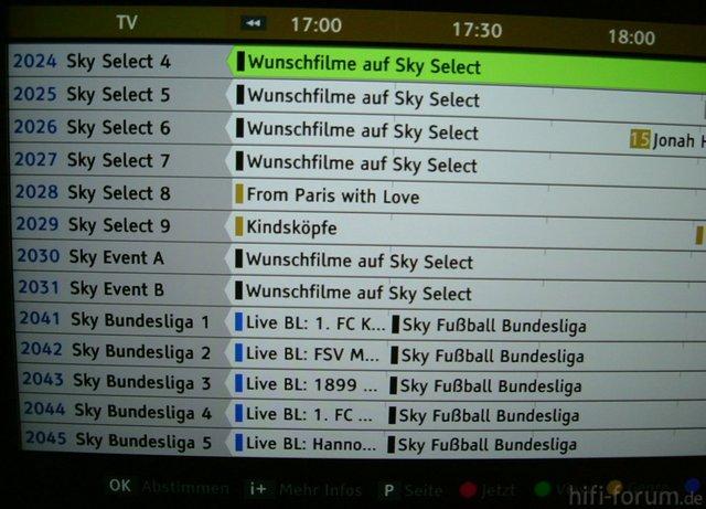 Select Und Bundesliga Mit EPG