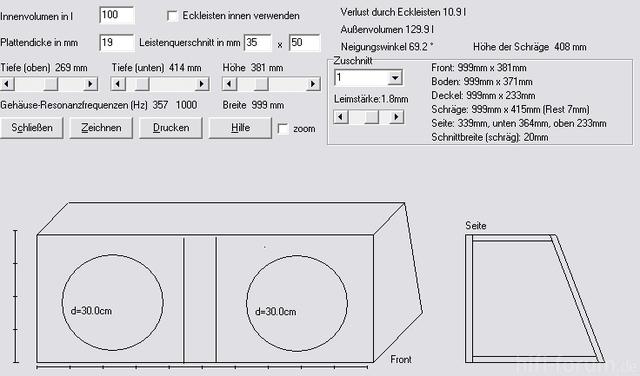 bassreflex f r 2 bull audio 39 s sw 12 car hifi subwoofer. Black Bedroom Furniture Sets. Home Design Ideas