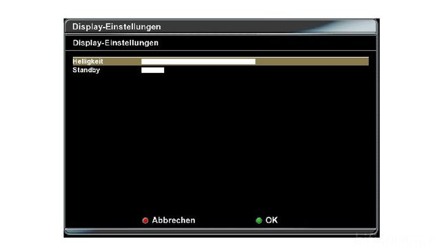 Dreambox Display-Einstellungen
