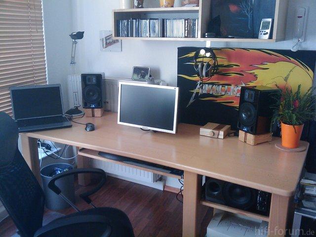 Schreibtischgesamtansicht
