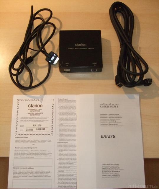Clarion EA1276 Ipod Interface + Zubehör