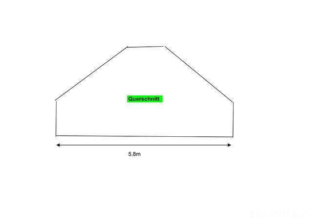 Raum Querschnitt Doppeldachschräge