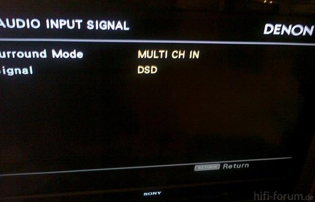 DSD über HDMI Denon 3808