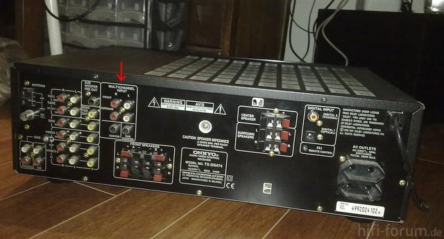 Rückseite - Onkyo TX DS 474
