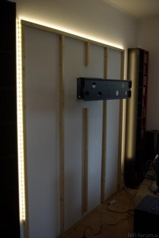 tv wand montage wandhalterung doityourself tvwand hifi bildergalerie. Black Bedroom Furniture Sets. Home Design Ideas