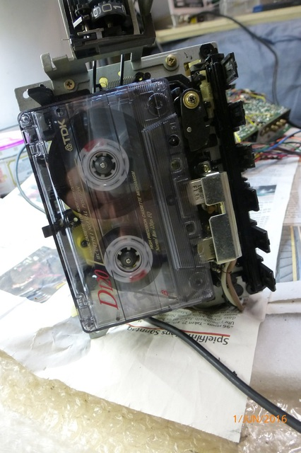 13 AIWA CS-880 Funktionstest Laufwerk mit Cassette