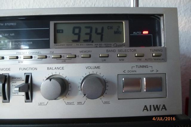 14 AIWA CS-880 Sender-Digitalanzeige klein