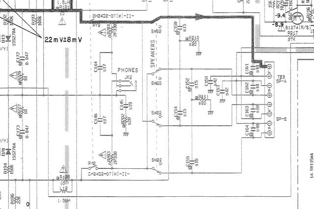 Kopfhörer-Spannungsteiler an Yamaha-Amp