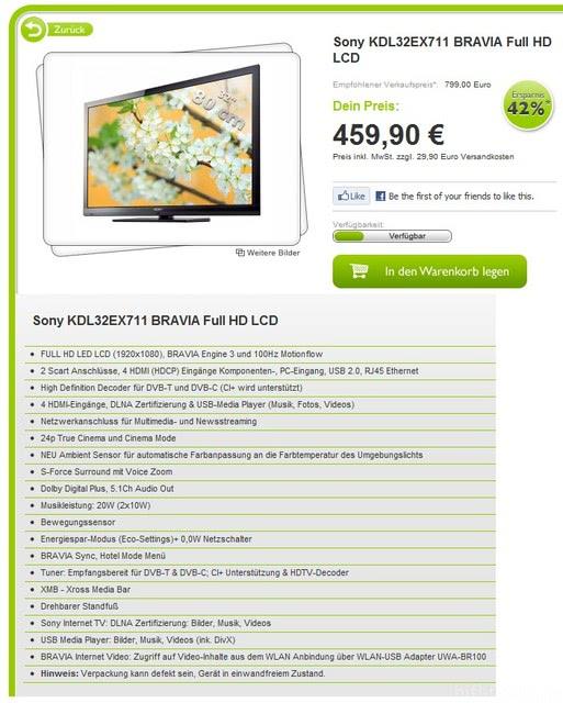 Sony KDL32EX711