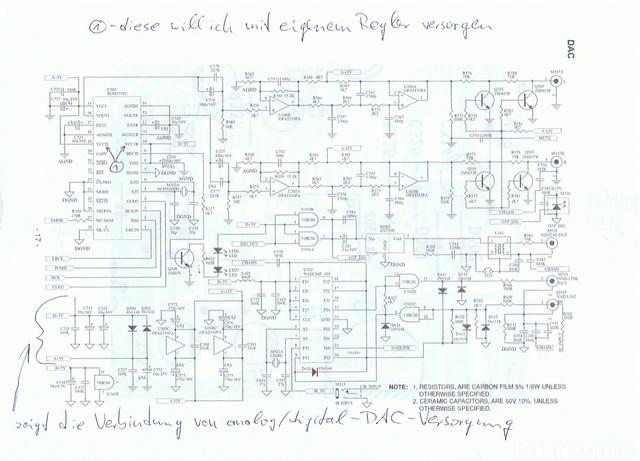 PCM1732-Beschaltung