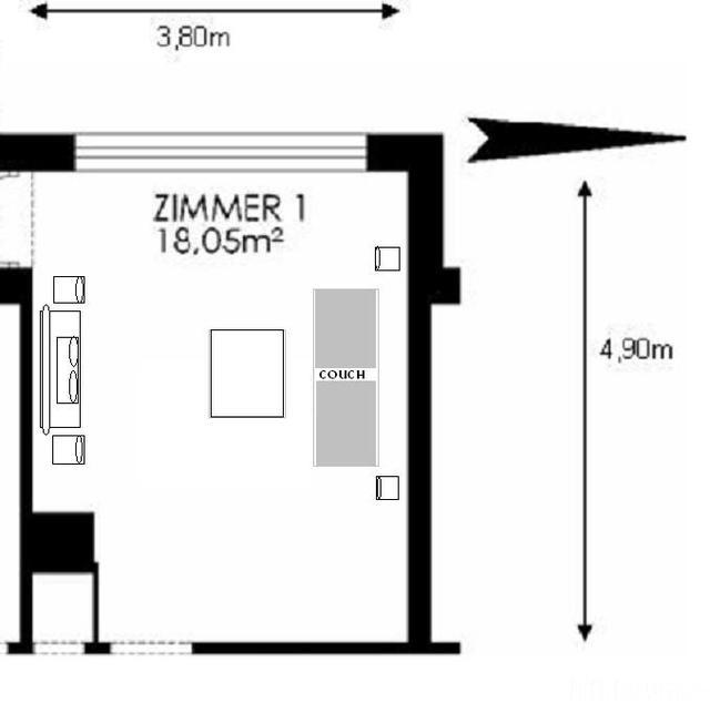 Wohnzimmer Variante A