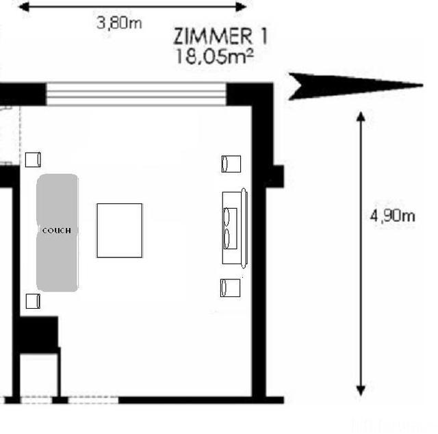 Wohnzimmer Variante B