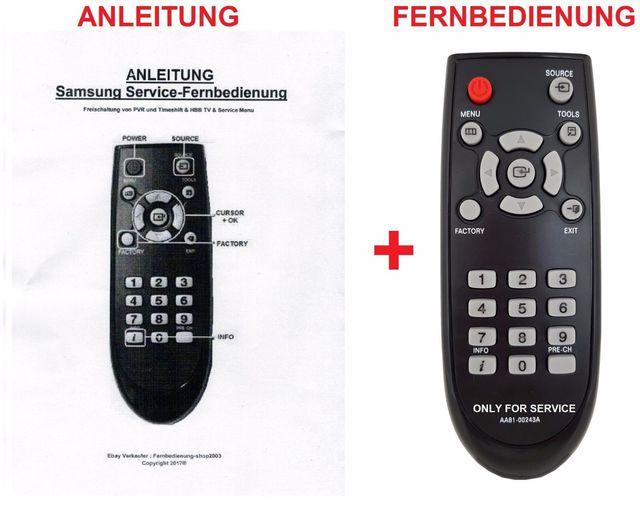 Samsung Service-Fernbedienung