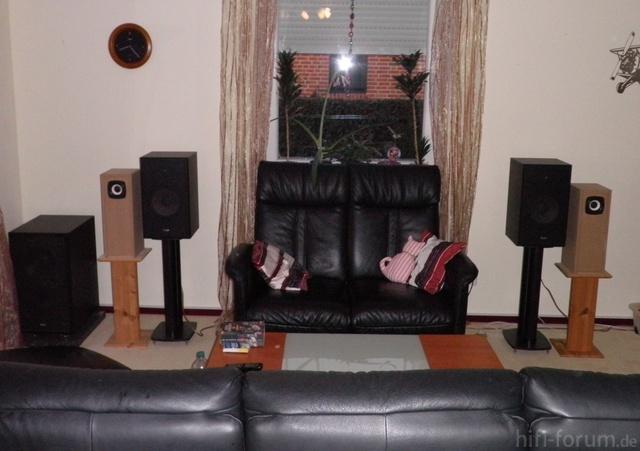 Stereodreieck Wohnzimmer