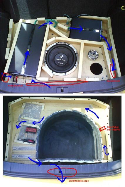 Reserveradmuldenausbau Ibiza 6L - Belüftung