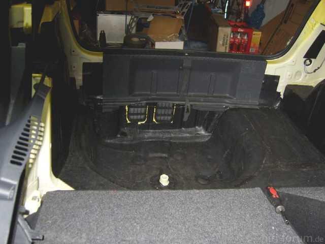 Reserveradmuldenausbau Ibiza 6L - Bitumisierung 15