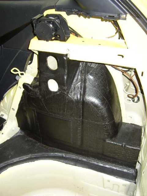 Reserveradmuldenausbau Ibiza 6L - Bitumisierung 6