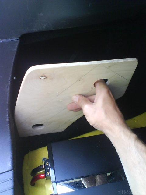 Reserveradmuldenausbau Ibiza 6L - Einbau Protovision 10
