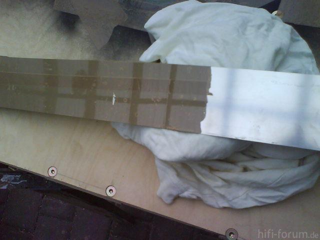 Reserveradmuldenausbau Ibiza 6L - Herstellung Abdeckplatte 124