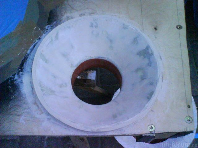 Reserveradmuldenausbau Ibiza 6L - Herstellung Abdeckplatte 135