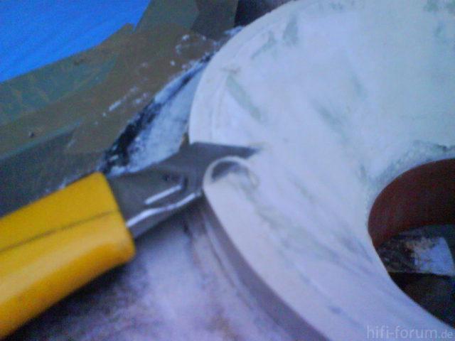 Reserveradmuldenausbau Ibiza 6L - Herstellung Abdeckplatte 138