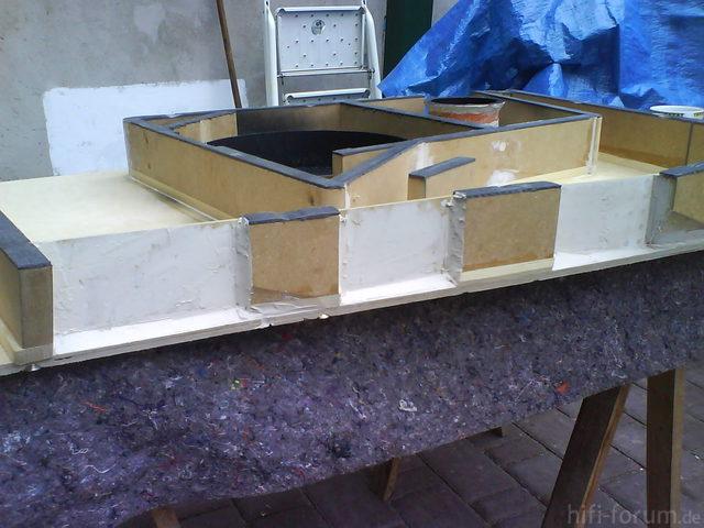 Reserveradmuldenausbau Ibiza 6L - Herstellung Abdeckplatte 158