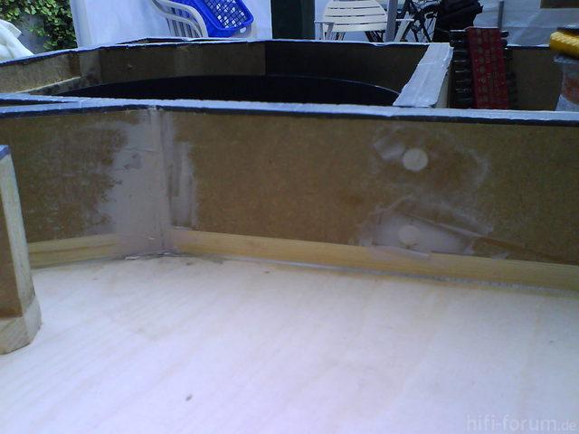 Reserveradmuldenausbau Ibiza 6L - Herstellung Abdeckplatte 160