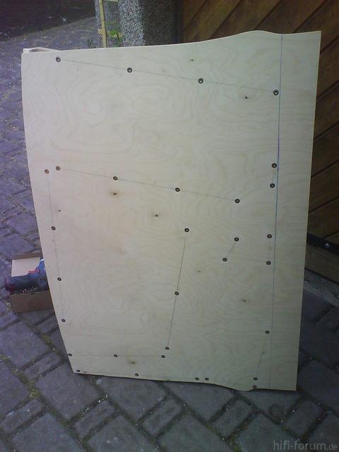 Reserveradmuldenausbau Ibiza 6L - Herstellung Abdeckplatte 21