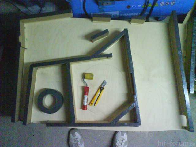Reserveradmuldenausbau Ibiza 6L - Herstellung Abdeckplatte 24