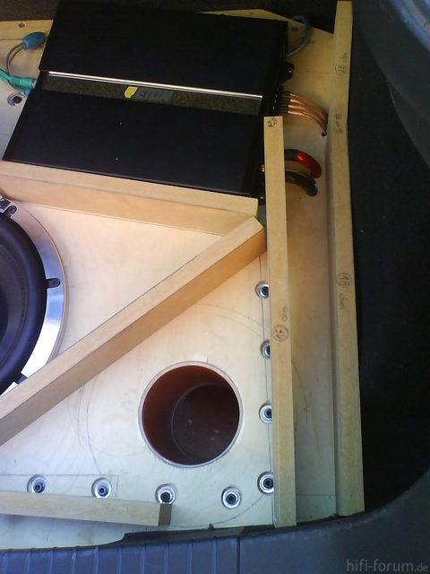 Reserveradmuldenausbau Ibiza 6L - Herstellung Abdeckplatte 6