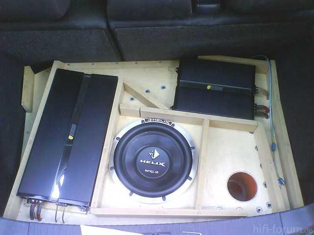 Reserveradmuldenausbau Ibiza 6L - Herstellung Abdeckplatte 9